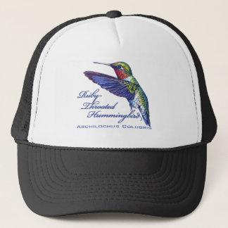 Ruby Throated Hummingbird Latin Trucker Hat