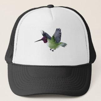 Ruby Throated Hummingbird Male Trucker Hat