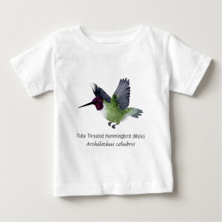 Ruby Throated Hummingbird Male with Name T Shirt