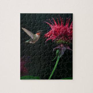 Ruby-throated Hummingbird on Bee Balm Jigsaw Puzzle