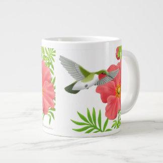 Ruby Throated Hummingbird on Geum Flower Mug