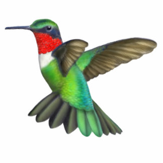 Ruby Throated Hummingbird Pin Statuette