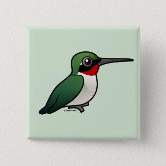Ruby-throated Hummingbird Pinback Button