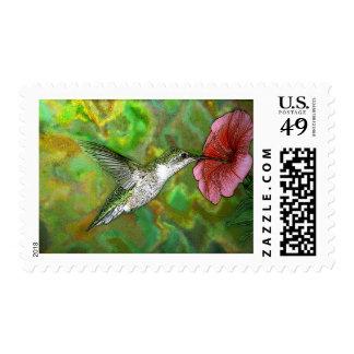 Ruby throated Hummingbird Postage