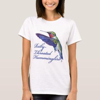 Ruby Throated Hummingbird Scripted T-Shirt