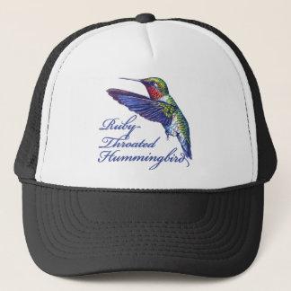 Ruby Throated Hummingbird Scripted Trucker Hat