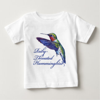 Ruby Throated Hummingbird Scripted Infant T-shirt