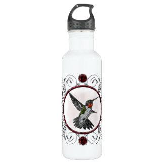 Ruby Throated Hummingbird Stainless Steel Water Bottle