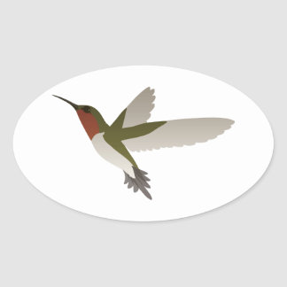 Ruby Throated Hummingbird Stickers