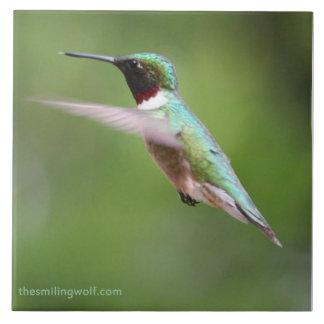 Ruby-Throated Hummingbird Tile
