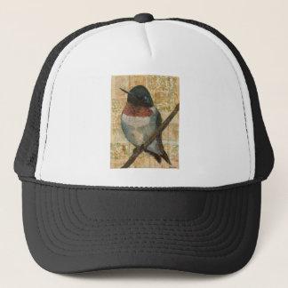 Ruby Throated Hummingbird Trucker Hat