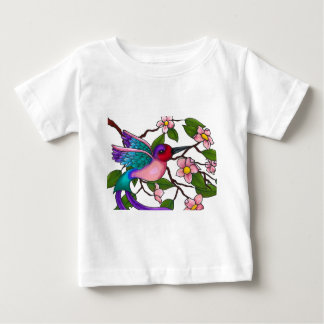Ruby Throated Hummingbird with Peach Blossoms Shirts