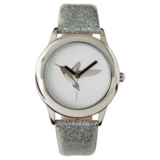 Ruby Throated Hummingbird Wristwatches