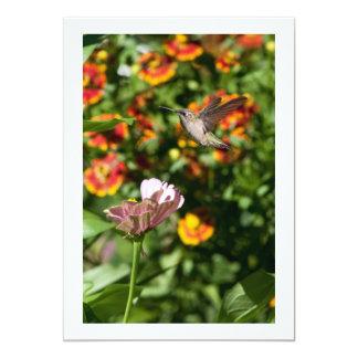Ruby Throated HummingbirdPhoto Custom Invitations