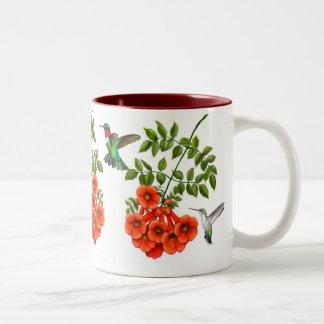 Ruby Throated Hummingbirds on Trumpet Creeper Mug