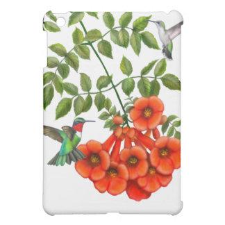Ruby Throated Hummingbirds on Trumpet Creeper Vine iPad Mini Cover