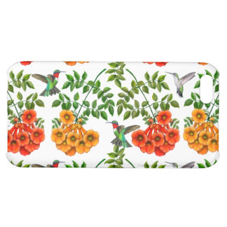 Ruby Throated Hummingbirds on Trumpet Vine iPhone Case For iPhone 5C