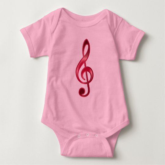 Ruby Treble Clef Baby Bodysuit