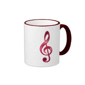 Ruby Treble Clef Mug