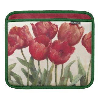 Ruby Tulips Sleeve For iPads