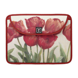 Ruby Tulips Sleeves For MacBook Pro