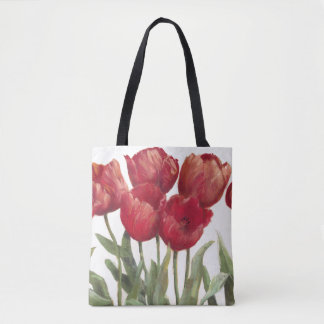 Ruby Tulips Tote Bag