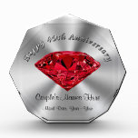 Ruby Wedding Anniversary Gifts PERSONALIZED Acrylic Award
