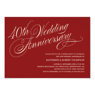 ruby wedding anniversary invitations & announcements | zazzle, Wedding invitations