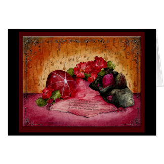 Ruby Wedding Anniversary : Jupigio-Artwork.com Greeting Card