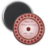 Ruby Wedding Anniversary Magnet