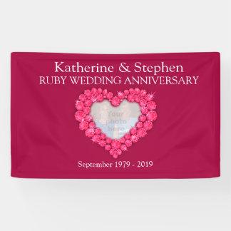 Ruby Wedding anniversary red banner