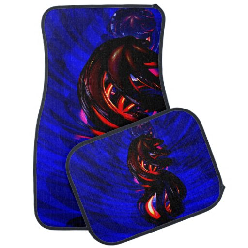 Ruby Whirlwind Abstract Floor Mat