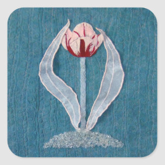 Ruby Wings Designs First Tulip Square Sticker