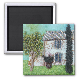 Ruby Wings Designs French Interlude 2 Inch Square Magnet