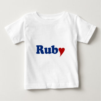 Ruby with Heart Baby T-Shirt