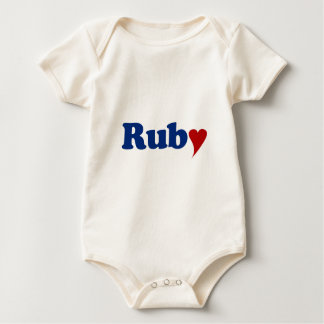 Ruby with Heart Bodysuit