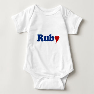 Ruby with Heart Shirt