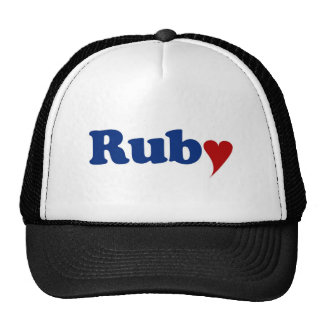 Ruby with Heart Trucker Hat