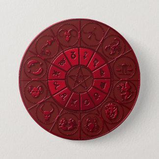 Ruby Zodiacal Button