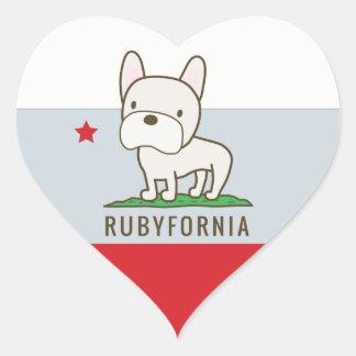 Rubyfornia Heart Stickers