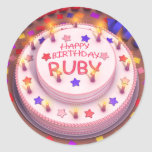 Ruby's Birthday Cake Stickers