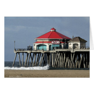 Ruby's Diner - Huntington Beach Pier Greeting Card