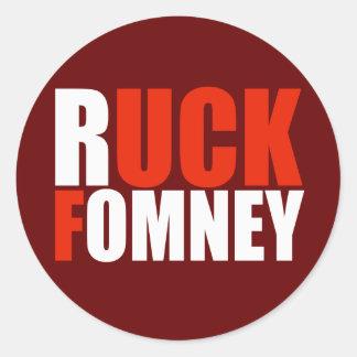 RUCK el blanco de FOMNEY Etiquetas Redondas