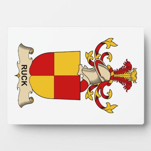 Ruck el escudo de la familia placa de madera