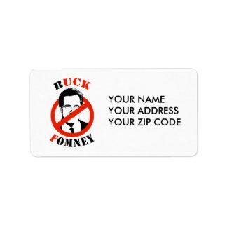 RUCK FOMNEY - ADDRESS LABEL