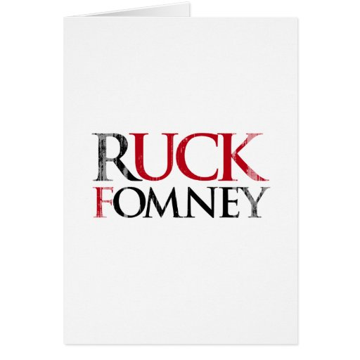 Ruck Fomney.png Greeting Card