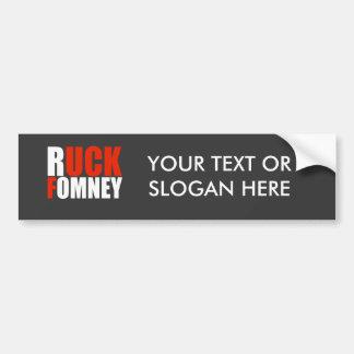 RUCK FOMNEY white Car Bumper Sticker