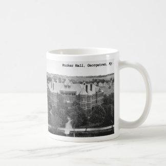 Rucker Hall Georgetown College Classic White Coffee Mug
