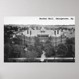 Rucker Pasillo universidad de Georgetown Kentuck Posters