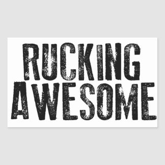 Rucking Awesome Rectangular Sticker